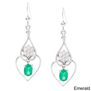 Oravo Sterling Silver Oval cut Prong set Gemstone Earrings
