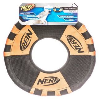 Gramercy Products Nerf 8087 Polyurethane Rubber Trackshot Toss and Tug Ring Dog Toy, Assorted Color, 11 Inch