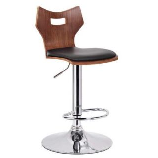 Baxton Studio Amery Modern Bar Stool in Walnut/Black (2 Pack) 28862 4214 HD