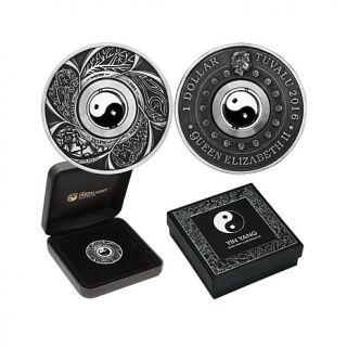 2016 Yin Yang 1 oz. Antiqued Silver Rotating Charm Coin   8289216