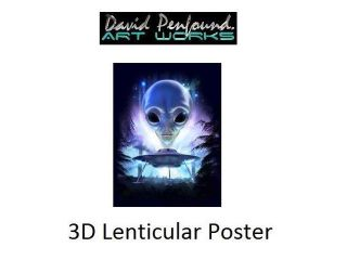 Alien Landing 3D Poster   Room Decoration by Impact Designs (47089 3DF)