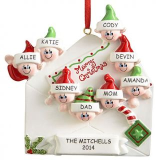 Personal Creations Personalized Merry Christmas Letter Family Ornament   8 Names   7646135