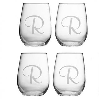 Personal Creations Set of 4 Stemless Wine Glasses   7321502