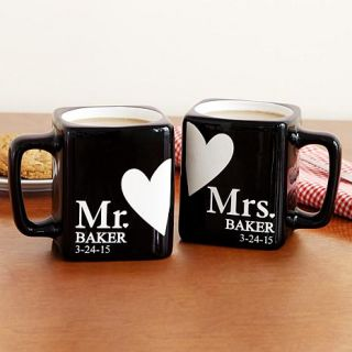 Personal Creations Personalized Mr. and Mrs. Black Mug Set   8128995