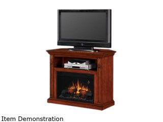 "ClassicFlame Fairmont Collection 40"" Wide Wall Corner Media Mantel Electric Fireplace (Vintage Mahogany) 26DE1247 M313"