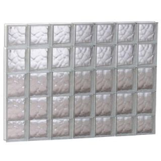 Clearly Secure 40.25 in. x 34.75 in. x 3.125 in. Wave Pattern Non Vented Glass Block Window 4236SDC