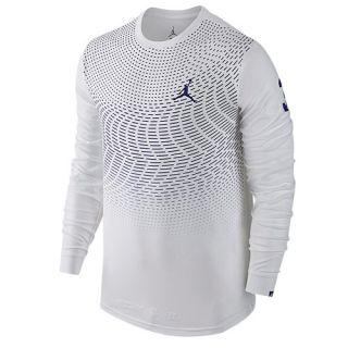 Jordan CP3 All Signs Long Sleeve Dri FIT T Shirt   Mens   Basketball   Clothing   White/Concord