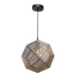 Renwil Skars 1 Light Black Pendant LPC139
