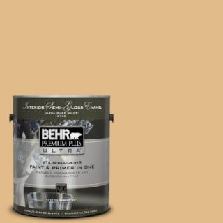 BEHR Premium Plus Ultra 1 gal. #M280 4 Royal Gold Semi Gloss Enamel Interior Paint 375401