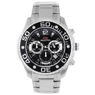 Seapro Mens Celtic Chronograph Watch with Black Dial and Black